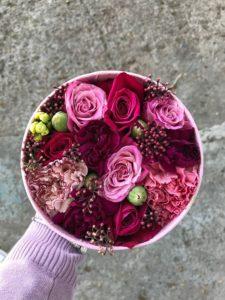 Коробочка круглая с цветами
