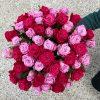 малиновый букет с розами