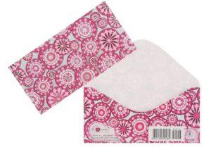 Розовый конверт для денег