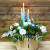 Свечи в новогодней композиции