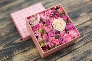 Мини коробочка с цветами