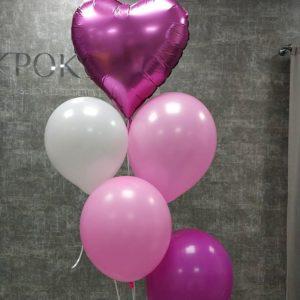 Розовый набор шариков