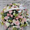 корзина с цветами на выписку