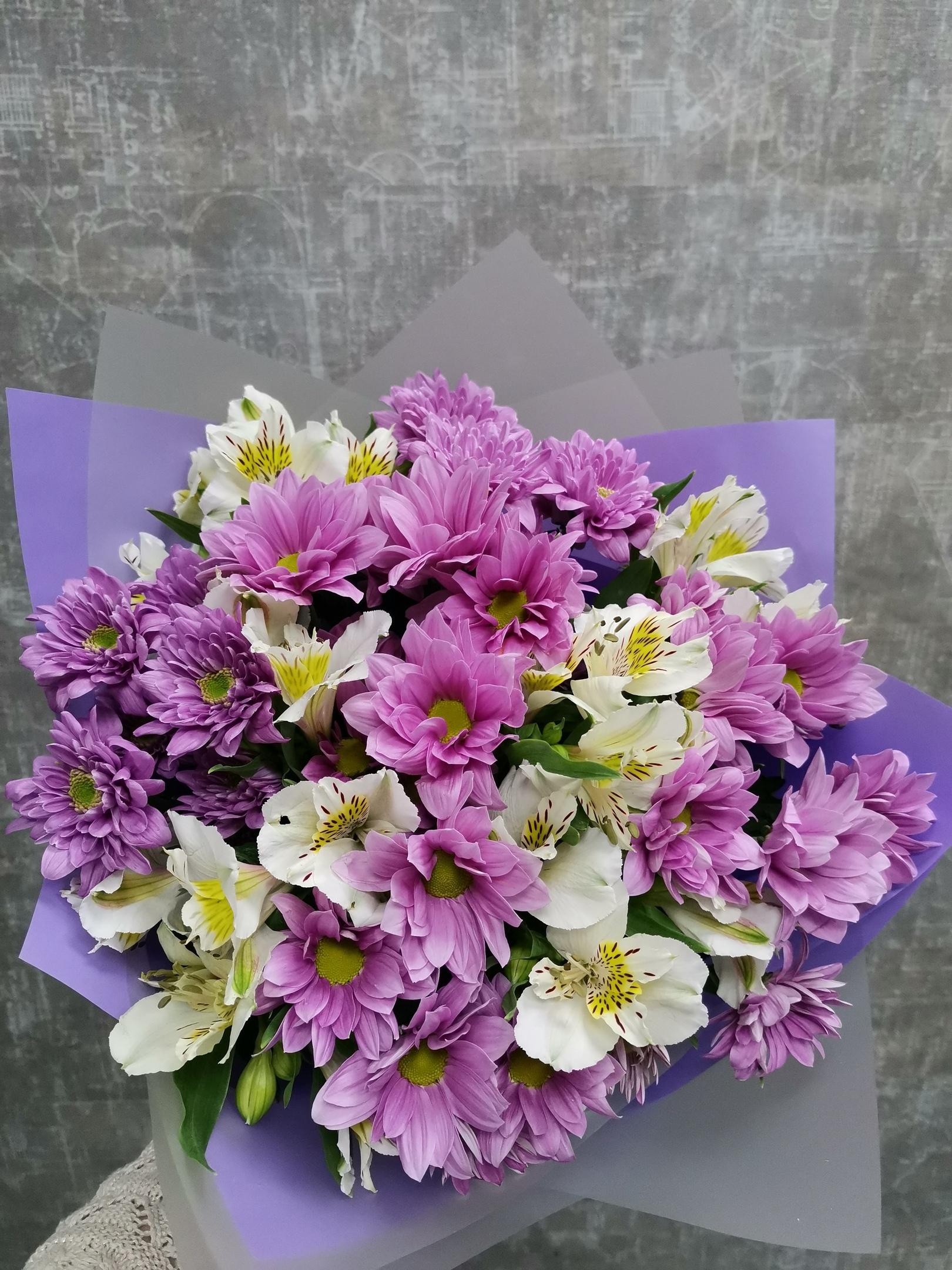 букеты из хризантем и альстромерий фото можете выбрать картинки